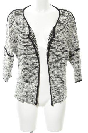 Zero Strickjacke schwarz-weiß meliert Casual-Look