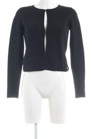 Zero Strickjacke schwarz-weiß Punktemuster Casual-Look