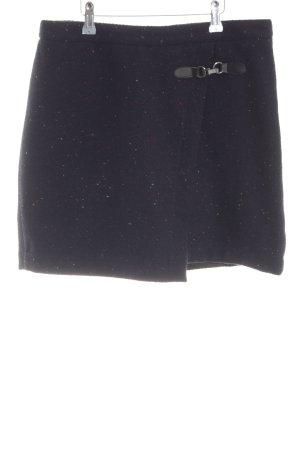 Zero Jupe tricotée noir moucheté style décontracté