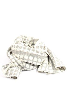 Zero Gebreide sjaal lichtgrijs-wit casual uitstraling