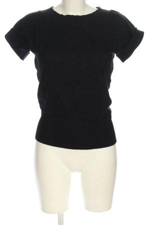 Zero T-shirts en mailles tricotées noir style décontracté