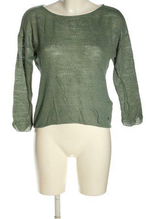 Zero Strickshirt khaki Webmuster Casual-Look
