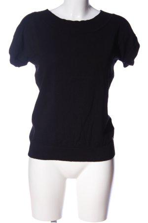 Zero Strickshirt schwarz Casual-Look