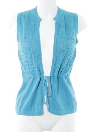Zero Strickweste blau Casual-Look