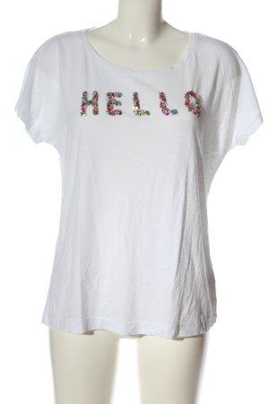 Zero T-Shirt weiß Schriftzug gedruckt Casual-Look