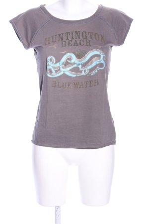 Zero T-Shirt lila Motivdruck Casual-Look