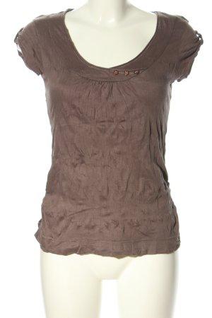Zero T-shirt marrone stile casual