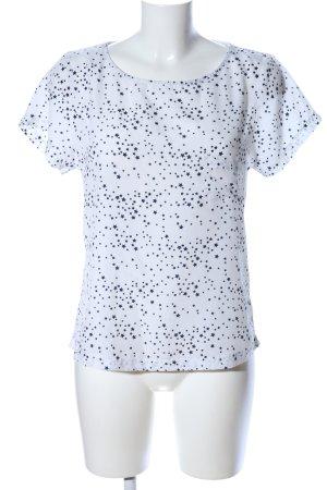 Zero T-Shirt weiß-schwarz abstraktes Muster Casual-Look