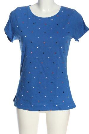 Zero T-Shirt weiß-schwarz Punktemuster Casual-Look