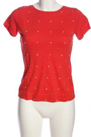 Zero T-Shirt rot Punktemuster Casual-Look