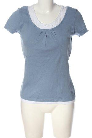 Zero T-Shirt blau-weiß Casual-Look