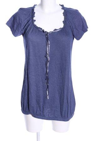 Zero T-Shirt blau meliert Casual-Look