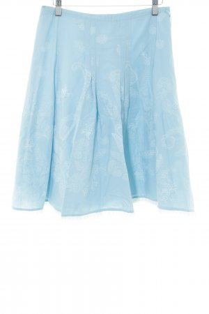 Zero Circle Skirt turquoise-white flower pattern casual look