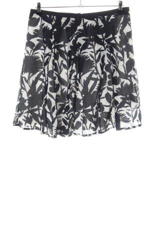 Zero Circle Skirt white-black flower pattern casual look