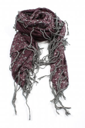 Zero Traditional Scarf red-light grey abstract pattern elegant
