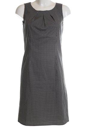 Zero Trägerkleid schwarz-weiß Allover-Druck Business-Look