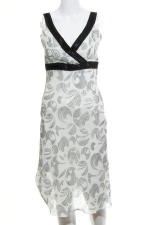 Zero Trägerkleid schwarz-wollweiß grafisches Muster Elegant