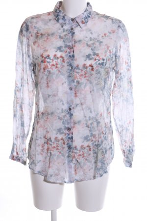 Zero Transparenz-Bluse abstraktes Muster Casual-Look