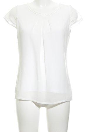 Zero Transparenz-Bluse weiß schlichter Stil
