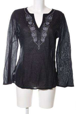Zero Tunikabluse schwarz-weiß Casual-Look