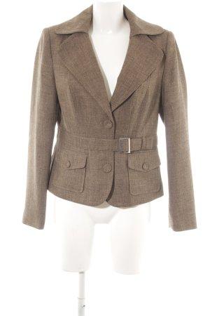 Zero Tweed blazer grijs-bruin klassieke stijl
