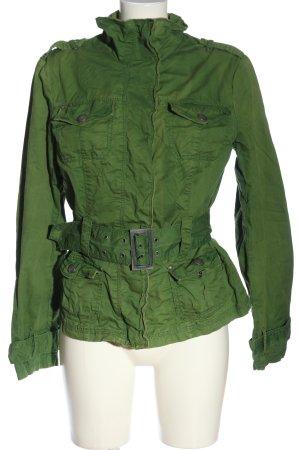 Zero Übergangsjacke grün-silberfarben Casual-Look