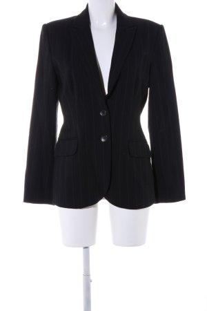 Zero Unisex blazer zwart gestreept patroon zakelijke stijl