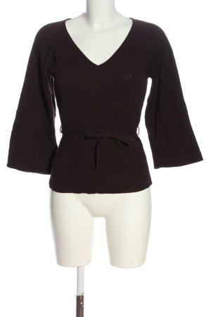 Zero V-Ausschnitt-Pullover braun Casual-Look
