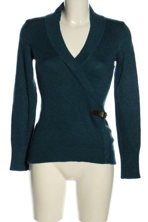 Zero V-Ausschnitt-Pullover blau Business-Look