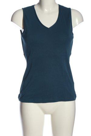 Zero V-Ausschnitt-Shirt blau Business-Look