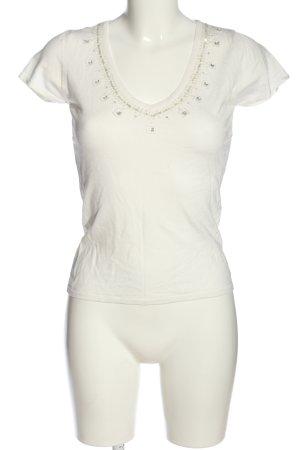 Zero V-Ausschnitt-Shirt weiß Casual-Look