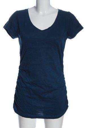 Zero V-Ausschnitt-Shirt blau Casual-Look