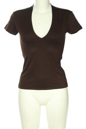 Zero V-Ausschnitt-Shirt braun Casual-Look
