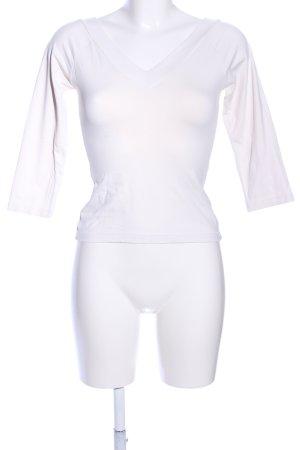 Zero Maglia con scollo a V bianco stile casual