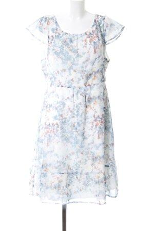 Zero Robe à volants motif de fleur style décontracté