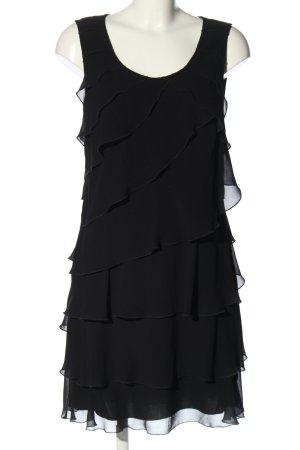 Zero Volantkleid schwarz Elegant