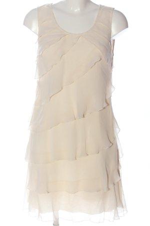 Zero Vestido estilo flounce blanco puro elegante