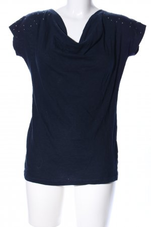 Zero Cowl-Neck Shirt blue casual look