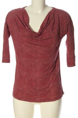 Zero Koszulka z dekoltem woda czerwony Na całej powierzchni W stylu casual