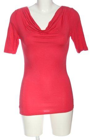 Zero Koszulka z dekoltem woda czerwony W stylu casual