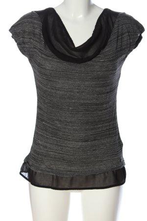 Zero Koszulka z dekoltem woda jasnoszary Melanżowy W stylu casual