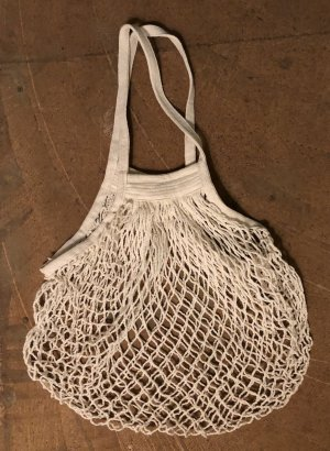 Mango Basics Burlap Bag natural white
