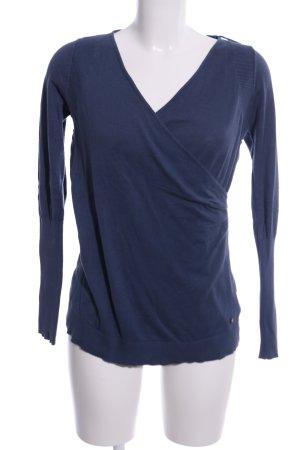 Zero Wickel-Bluse blau Casual-Look