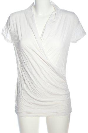 Zero Wraparound Shirt white casual look
