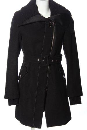 Zero Winterjas zwart zakelijke stijl