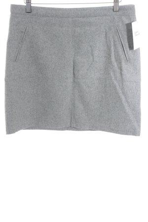 Zero Wollen rok lichtgrijs gestippeld zakelijke stijl