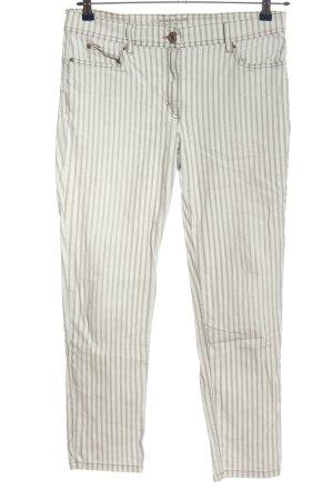 Zerres Jeansy 7/8 jasnoszary-w kolorze białej wełny Wzór w paski