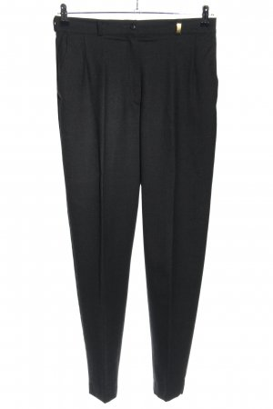 Zerres Bundfaltenhose schwarz meliert Business-Look