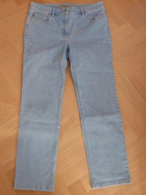 Zerres Jeansy z prostymi nogawkami błękitny Bawełna