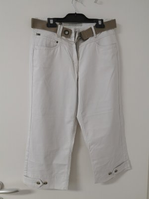 ZERRES Jeans Damen 3/4 Hose, weiß-beige, Gr. 38